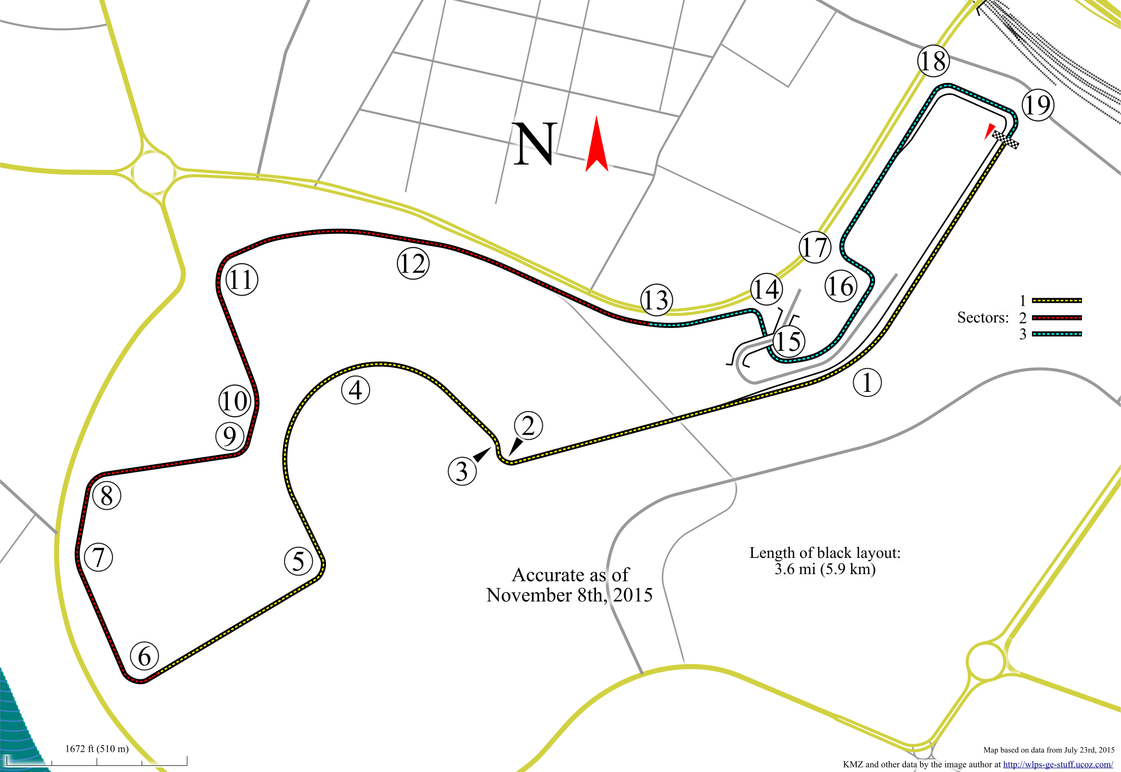 Map including surrounding streets